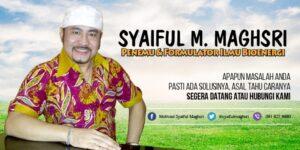 Syaiful Maghsri Penemu dan Formulator Ilmu Bioenergi